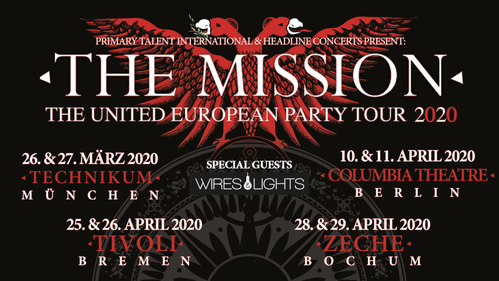 The Mission + Wires & Lights in Germany